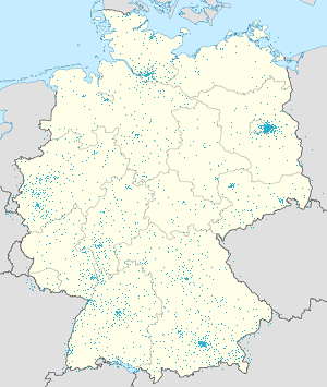 Map of Bundesgebiet with markings for the individual supporters