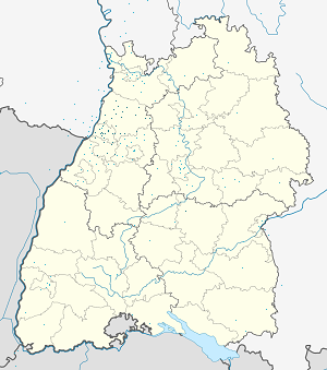 Map of Baden-Würtemberg with markings for the individual supporters