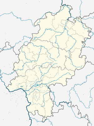 Map of Wiesbaden with markings for the individual supporters