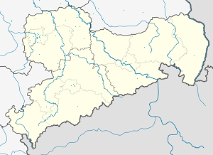 Map of Torgau Administrative Community with markings for the individual supporters