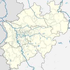 Map of Kreis Wesel with markings for the individual supporters