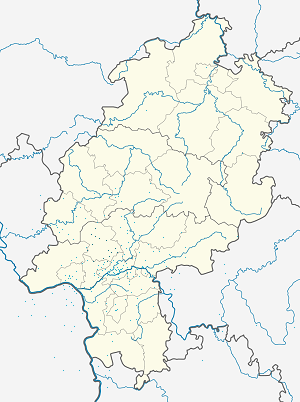 Map of Hochtaunuskreis with markings for the individual supporters