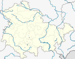 Map of Ilm-Kreis with markings for the individual supporters