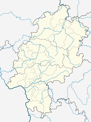 Map of Hessen with markings for the individual supporters