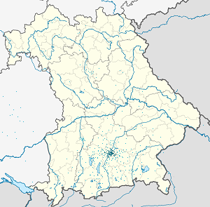 Map of Munich with markings for the individual supporters