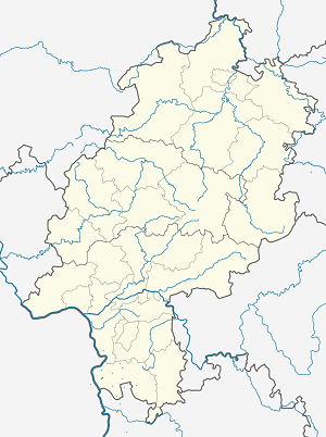 Map of Bürstadt with markings for the individual supporters