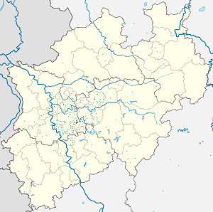 Map of Wuppertal with markings for the individual supporters