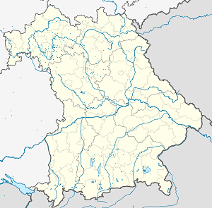 Map of Landkreis Kitzingen with markings for the individual supporters