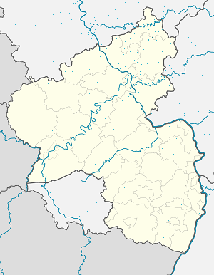 Map of Verbandsgemeinde Hamm (Sieg) with markings for the individual supporters