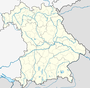 Map of Landkreis Haßberge with markings for the individual supporters
