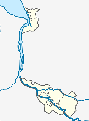 Map of Bremerhaven with markings for the individual supporters
