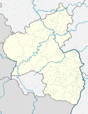 Map of Rheinland-Pfalz with markings for the individual supporters