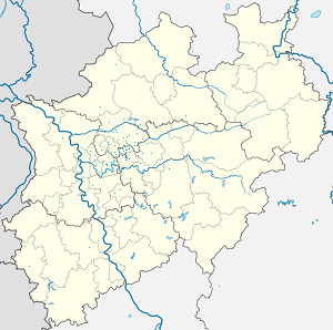 Map of Bochum-Mitte (district) with markings for the individual supporters
