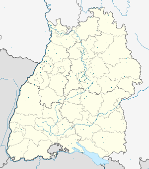 Map of Baden-Württemberg, Germany with markings for the individual supporters