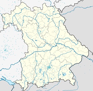 Map of Dießen am Ammersee with markings for the individual supporters