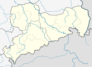 Map of Zittau with markings for the individual supporters