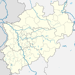 Map of Kreis Düren with markings for the individual supporters
