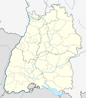 Map of Edingen-Neckarhausen with markings for the individual supporters