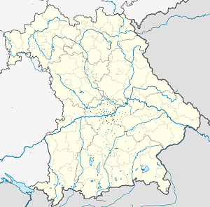 Map of Oberbayern with markings for the individual supporters