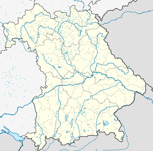 Map of Landkreis Lichtenfels with markings for the individual supporters