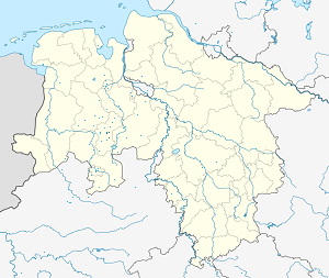 Map of Lohne (Oldenburg) with markings for the individual supporters