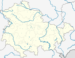 Map of Thuringia with markings for the individual supporters