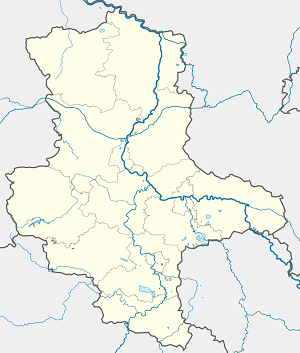 Map of Merseburg with markings for the individual supporters