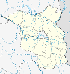 Map of Guben with markings for the individual supporters