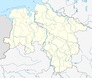 Map of Landkreis Lüneburg with markings for the individual supporters