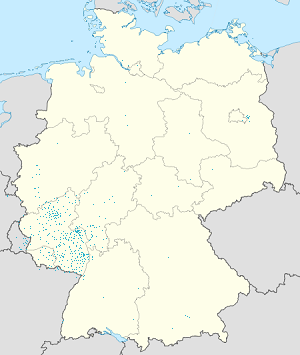Map of Land Rheinland-Pfalz with markings for the individual supporters