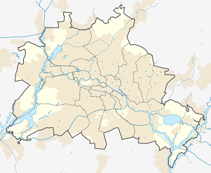 Map of Marzahn-Hellersdorf with markings for the individual supporters