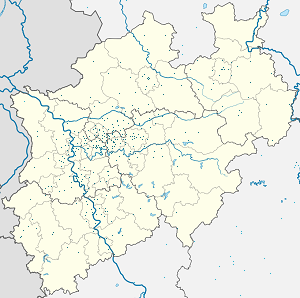 Map of North Rhine-Westfalia with markings for the individual supporters