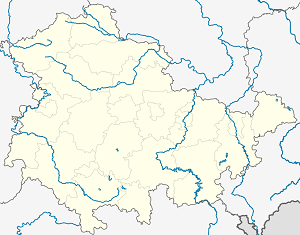 Map of Saale-Orla-Kreis with markings for the individual supporters