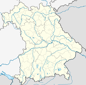 Map of Kirchheim bei München with markings for the individual supporters