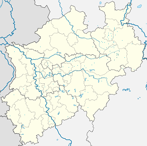 Map of Kreis Paderborn with markings for the individual supporters