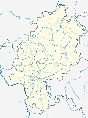 Map of Hesse with markings for the individual supporters