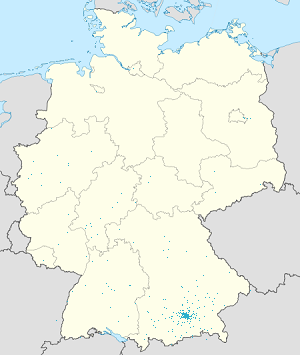 Map of München with markings for the individual supporters