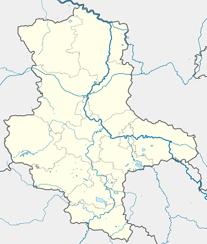 Map of Lutherstadt Eisleben with markings for the individual supporters