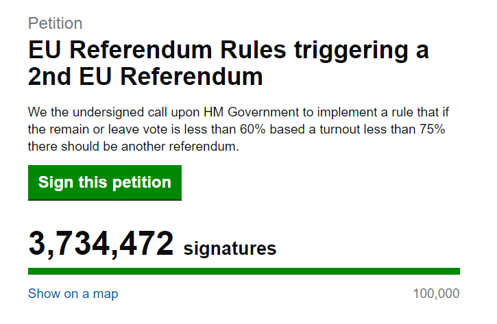 Petition 2nd Referendum GB