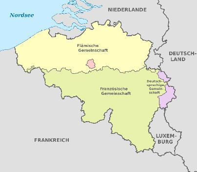 Karte Belgiens CC wikimedia