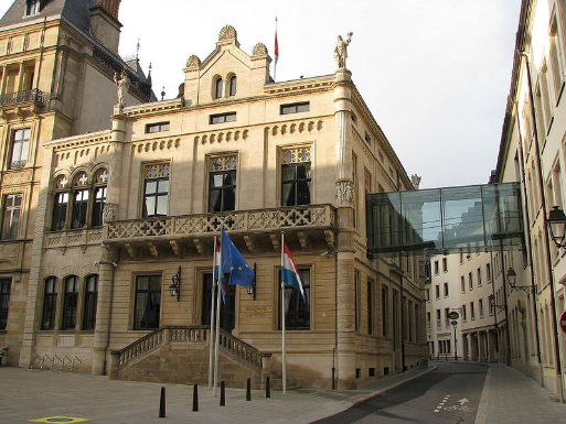 Hôtel de la Chambre, das luxemburgische Parlament, CC wikimedia.